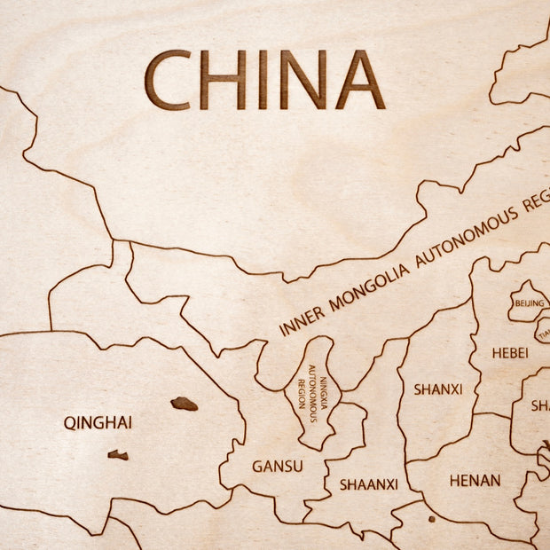 China Custom Map Gift - Etched Atlas