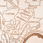 Cincinnati Closing Housewarming Gift - Etched Atlas
