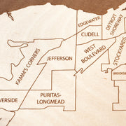 Cleveland Custom Map Gift - Etched Atlas