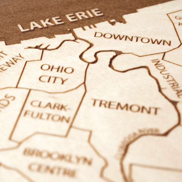 Cleveland Closing Housewarming Gift - Etched Atlas