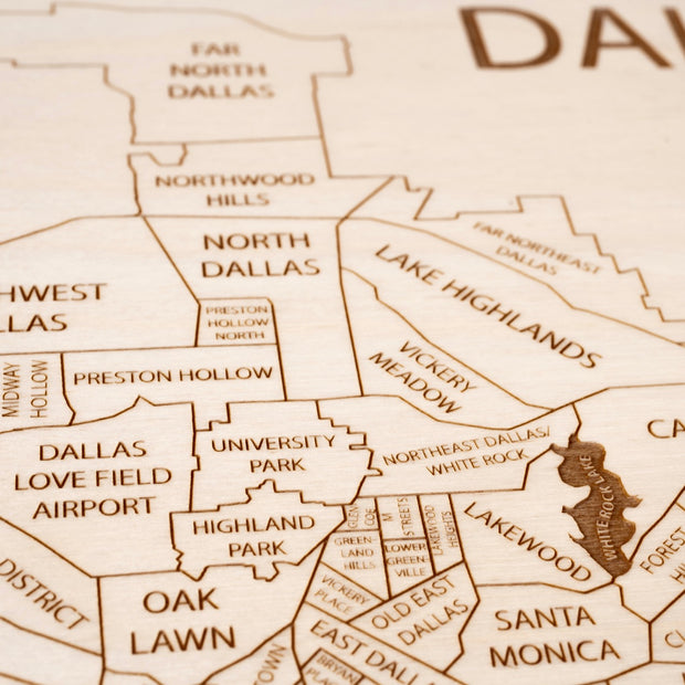 Dallas Closing Housewarming Gift - Etched Atlas