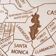 Dallas Custom Map Gift - Etched Atlas