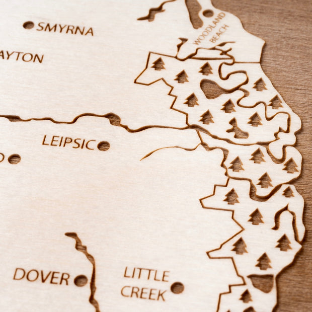 Delaware Bay Area Closing Housewarming Gift - Etched Atlas