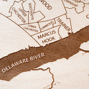 Delaware County Custom Map Gift - Etched Atlas