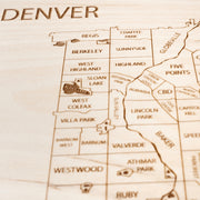 Denver Closing Housewarming Gift - Etched Atlas