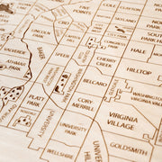 Denver Engraved Wood Map - Etched Atlas