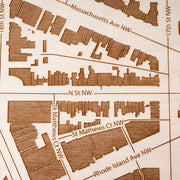 Dupont Circle Closing Housewarming Gift - Etched Atlas