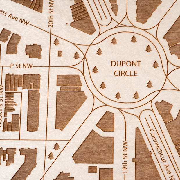 Dupont Circle Custom Map Gift - Etched Atlas