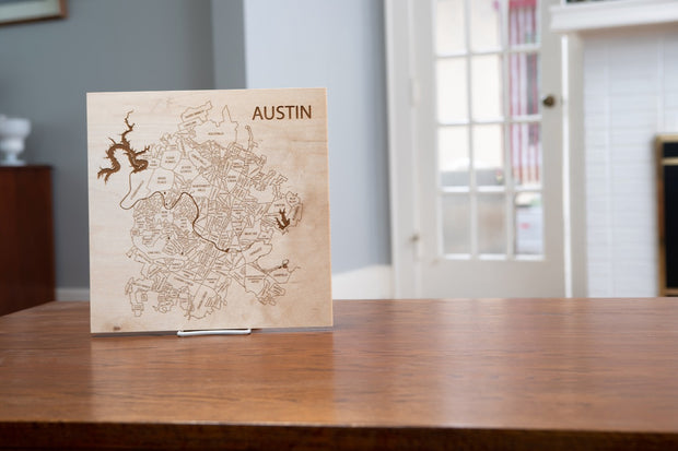 Custom Map-Unframed-Etched Atlas