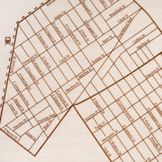 East Kensington/Olde Richmond Engraved Wood Map - Etched Atlas