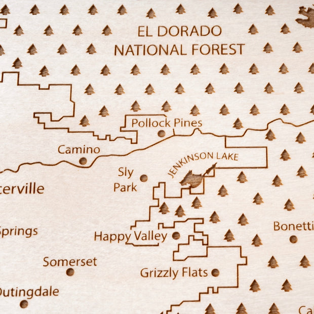 El Dorado County Closing Housewarming Gift - Etched Atlas