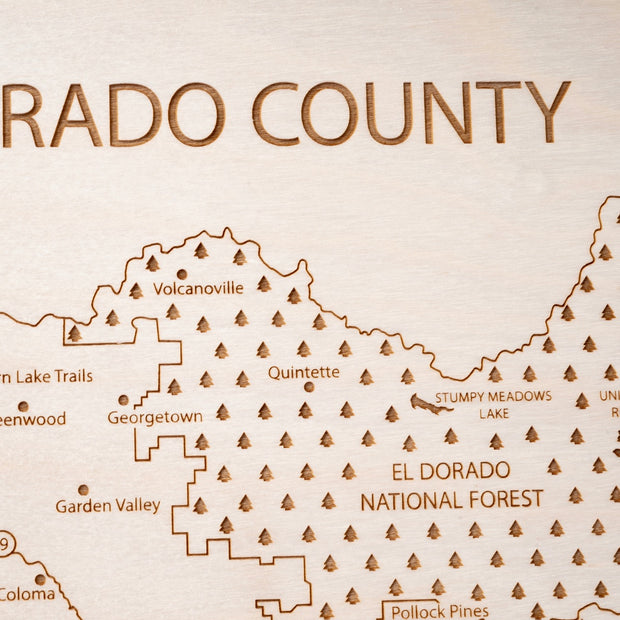 El Dorado County Custom Map Gift - Etched Atlas