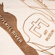 Fairmount Engraved Wood Map - Etched Atlas
