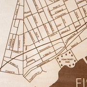 Fishtown Closing Housewarming Gift - Etched Atlas