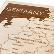 Germany Custom Map Gift - Etched Atlas