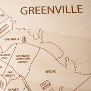 Greenville Closing Housewarming Gift - Etched Atlas