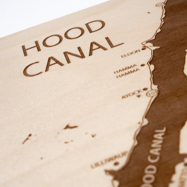 Hood Canal Closing Housewarming Gift - Etched Atlas