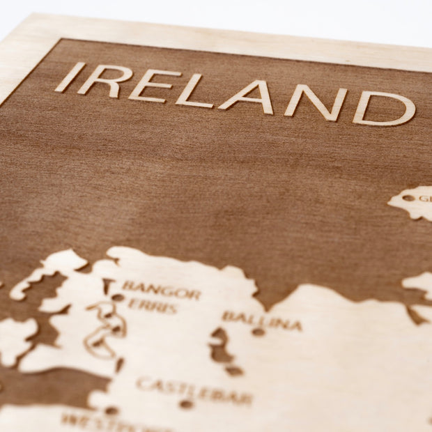 Ireland Closing Housewarming Gift - Etched Atlas