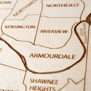 Kansas City, KS Custom Map Gift - Etched Atlas