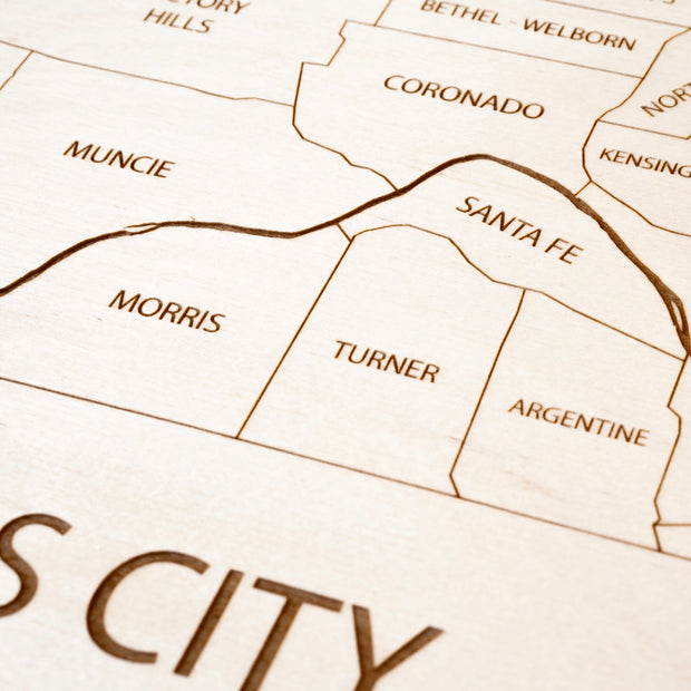 Kansas City, KS Closing Housewarming Gift - Etched Atlas