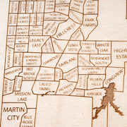 Kansas City, MO Closing Housewarming Gift - Etched Atlas