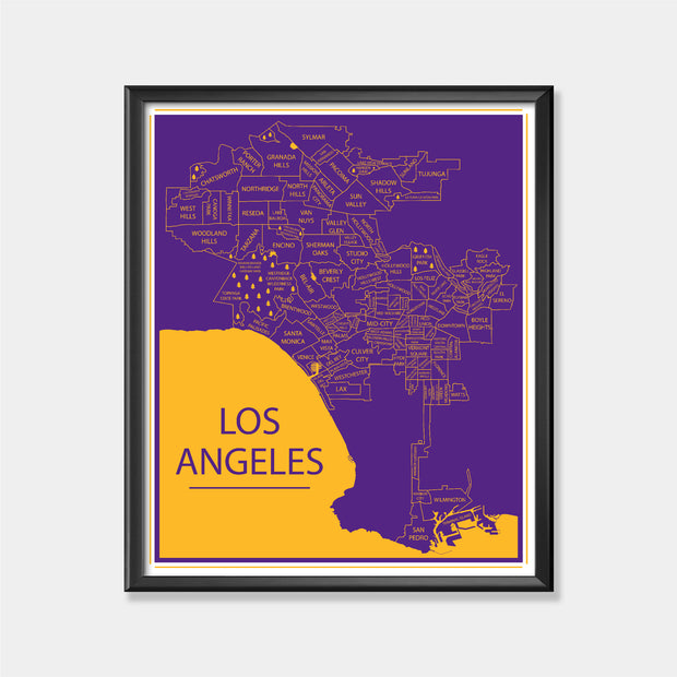 Los Angeles Lakers (LA Map)