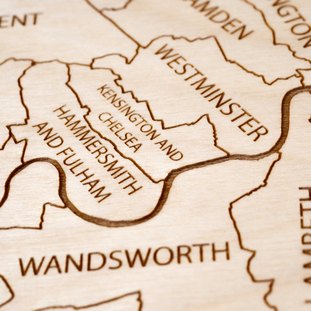 London Custom Map Gift - Etched Atlas