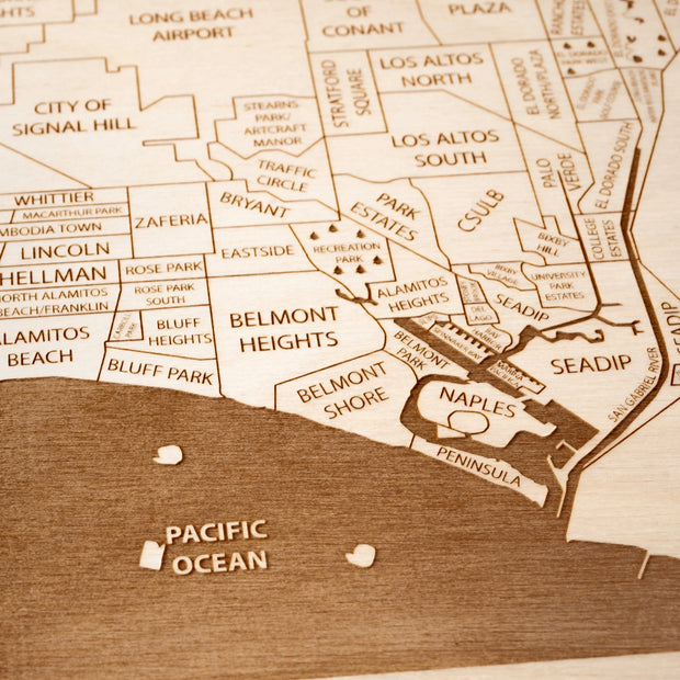 Long Beach Closing Housewarming Gift - Etched Atlas
