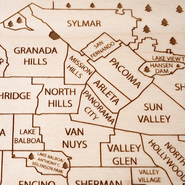 Los Angeles Area Closing Housewarming Gift - Etched Atlas