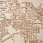 Los Angeles Custom Map Gift - Etched Atlas