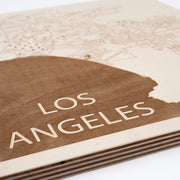 Los Angeles Engraved Wood Map - Etched Atlas