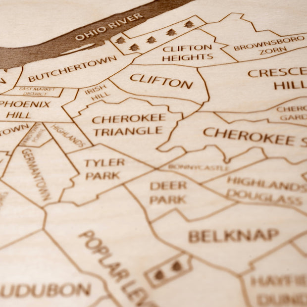 Louisville Closing Housewarming Gift - Etched Atlas