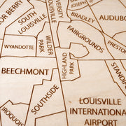 Louisville Custom Map Gift - Etched Atlas