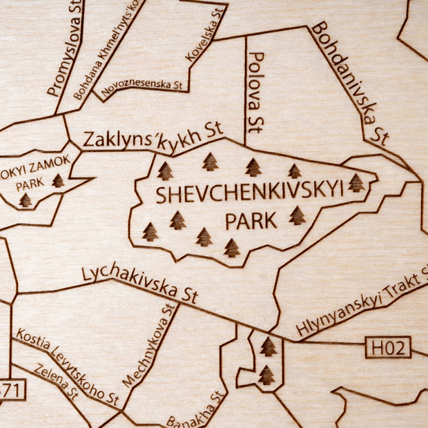 Lviv Custom Map Gift - Etched Atlas