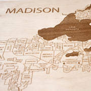 Madison Custom Map Gift - Etched Atlas