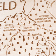 Medfield Closing Housewarming Gift - Etched Atlas