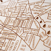 Memphis Custom Map Gift - Etched Atlas