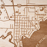 Menomonie Closing Housewarming Gift - Etched Atlas