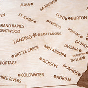Michigan Custom Map Gift - Etched Atlas