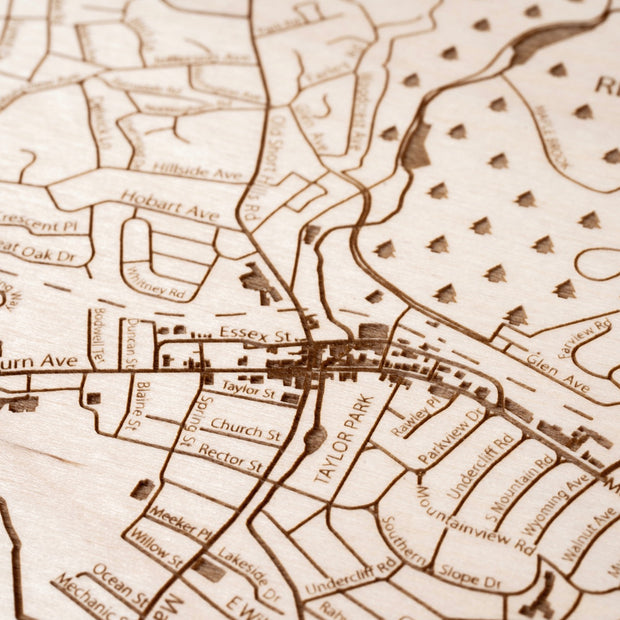 Millburn Custom Map Gift - Etched Atlas