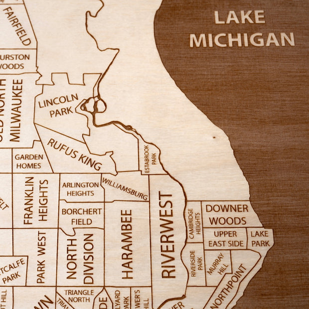 Milwaukee Closing Housewarming Gift - Etched Atlas