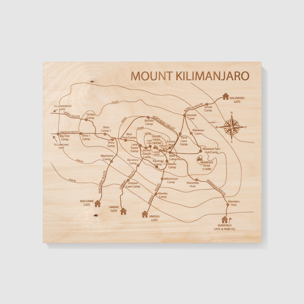 Mt Kilimanjaro – Etched Atlas