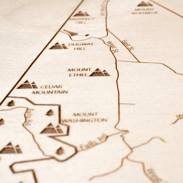 Mount Washington Closing Housewarming Gift - Etched Atlas