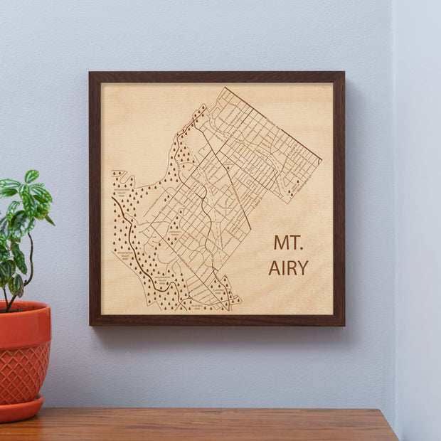 Mt. Airy Map - - Etched Atlas
