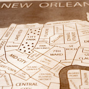 New Orleans Custom Map Gift - Etched Atlas
