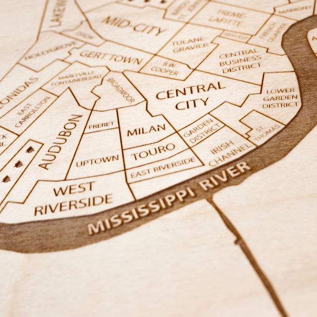 New Orleans Closing Housewarming Gift - Etched Atlas