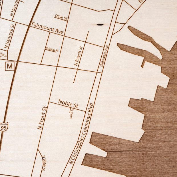 Northern Liberties Custom Map Gift - Etched Atlas