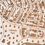 Oakland Custom Map Gift - Etched Atlas