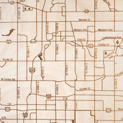 Omaha Custom Map Gift - Etched Atlas