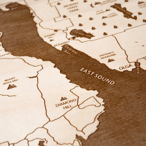 Orcas Island Closing Housewarming Gift - Etched Atlas